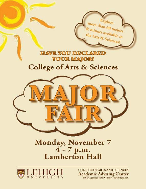 College of Arts and Sciences Major Fair
