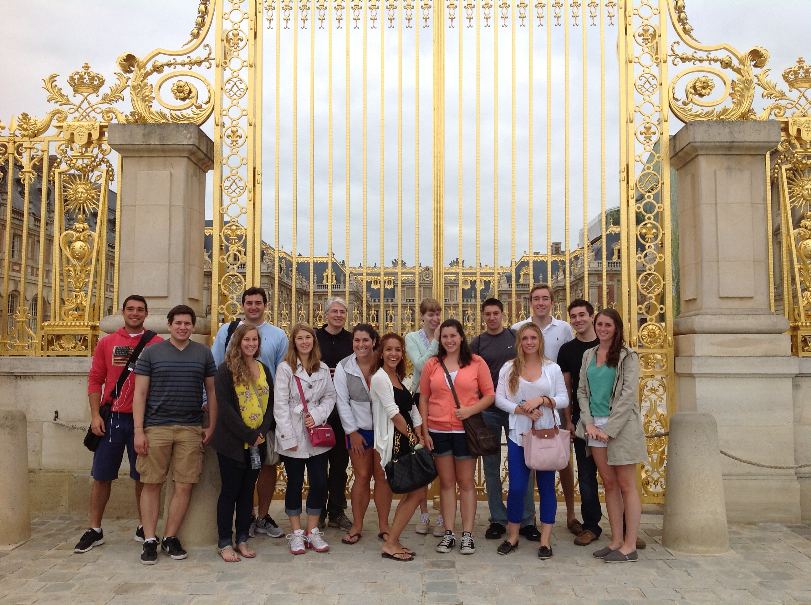 Professor Savage with his Summer Class at Versailles