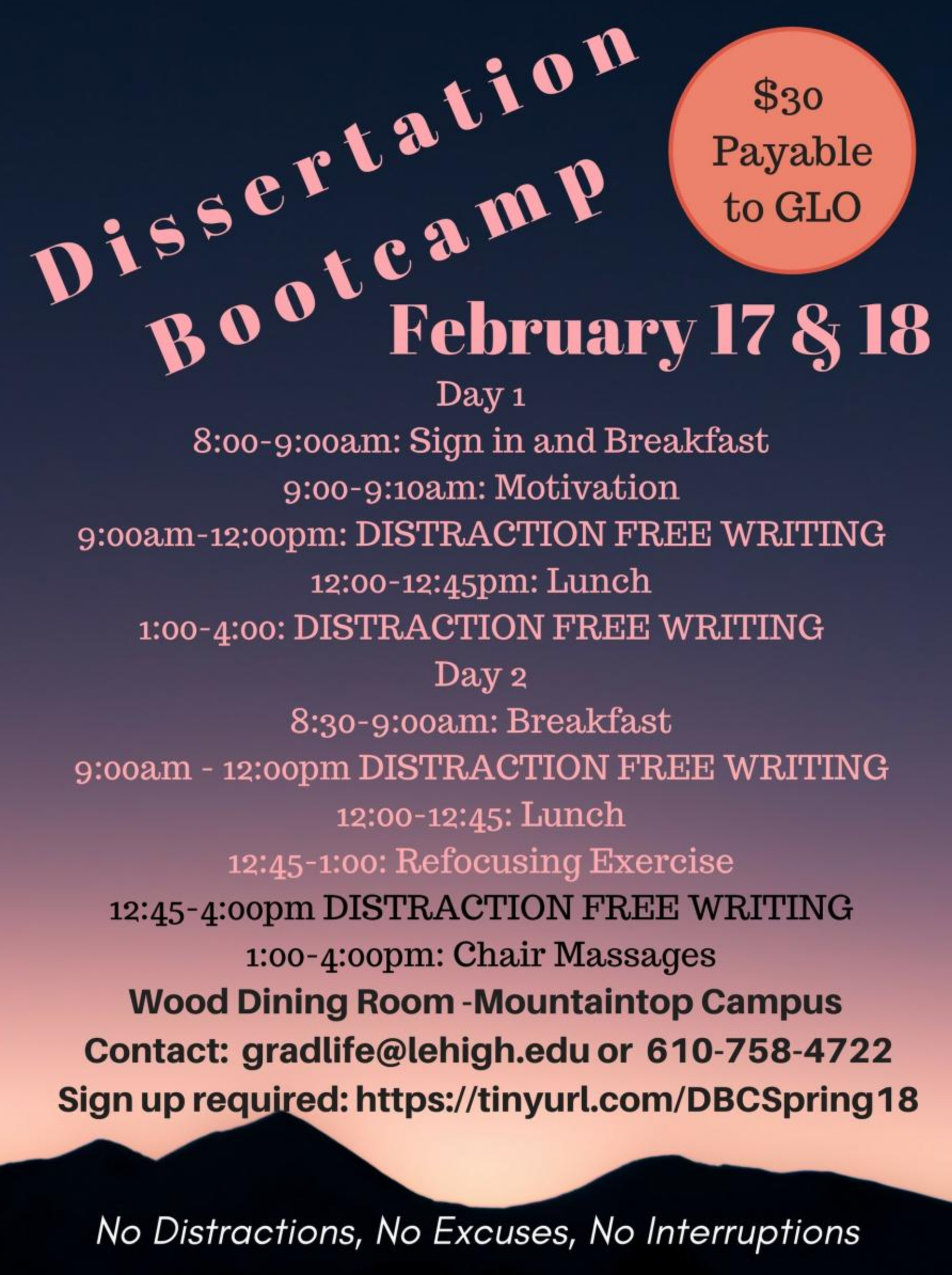 lehigh university dissertation boot camp Dissertation boot camp guelph - modify the way you deal with your task with our professional service proofreading and proofediting services from best professionals professional writers engaged in the service will fulfil your assignment within the deadline.